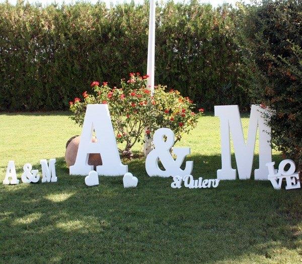 Letras e iniciales para bodas