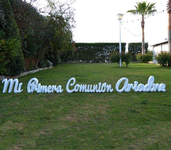 Letras gigantes para comuniones - Letras decoración para comuniones