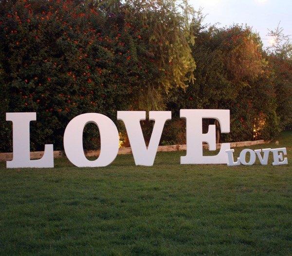 Palabra Love para bodas